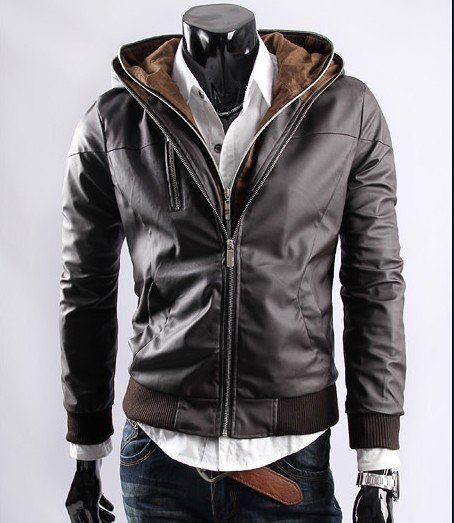 PU LEATHER JACKET WITH DOUBLE COULOR