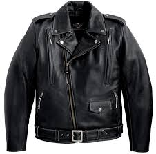 elegant mens leather jacket black