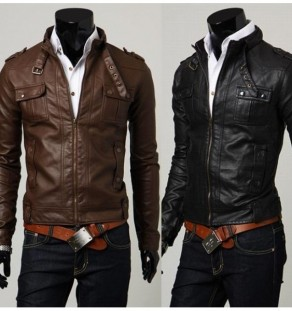 fashionable classic pu leather jackets