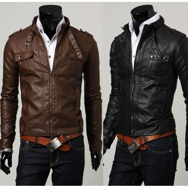 fashionable classic pu leather jackets